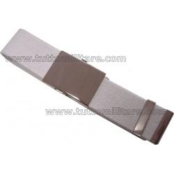 Cintura Militare Bianca con Fibbia Metallo