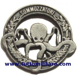 Distintivo Metallo Sommozzatori Argentato Marina Militare