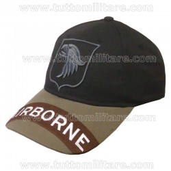 Cappellino 101st Airborne Black & Brown