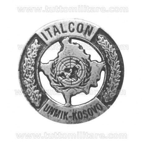 Distintivo Ricordo Missione ITALCON UNMIK KOSOVO