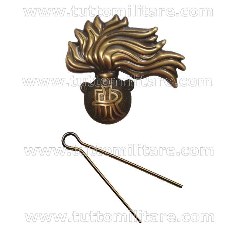 Fregio Metallo Bronzato Basco Carabinieri b40581131c0c