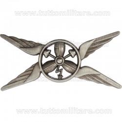 Distintivo Metallo Argentato Meccanico Elicotterista