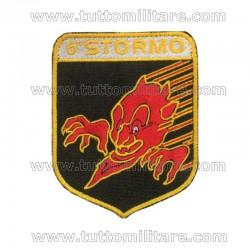 Scudetto 6° Stormo Aeronautica Militare Diavoli Rossi