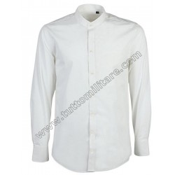 Camicia Bianca Coreana Manica Lunga Polsi Gemelli