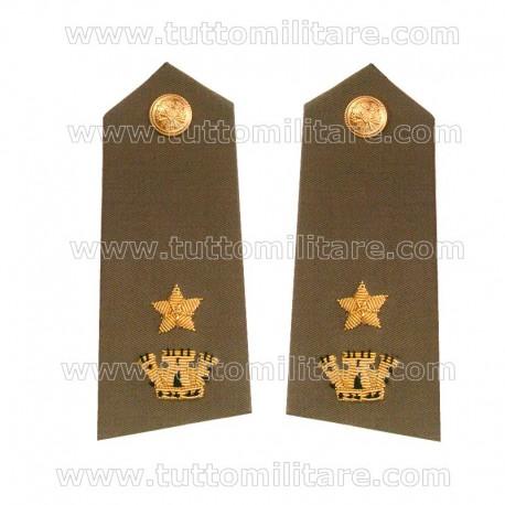 Controspalline Ricamate Maggiore Esercito