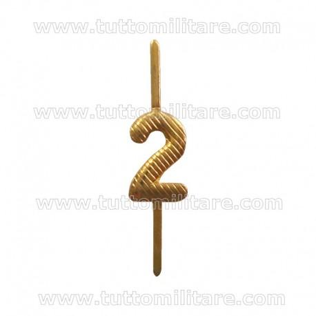 Numerino 2 Ottone Dorato