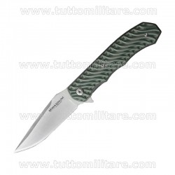 Coltello Magnum Green Flipper Satinato