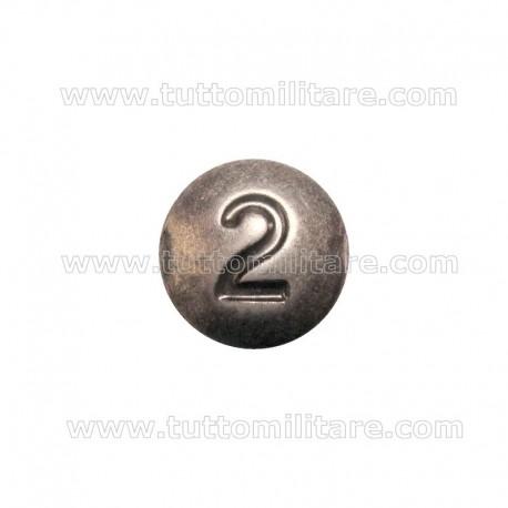 Dischetto Numerale 2 su Fregio Basco Cavalleria