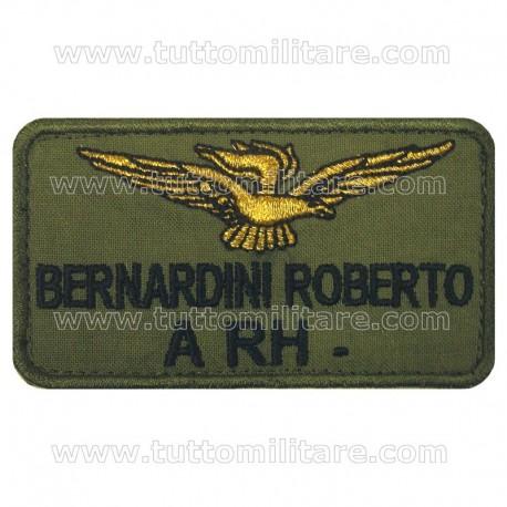 Targhetta Personalizzata Pilota Aviazione Leggera Esercito