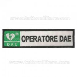 Targhetta Ricamata Operatore DAE