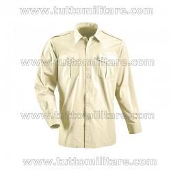 Camicia Militare Esercito Kaki Chiaro Manica Lunga
