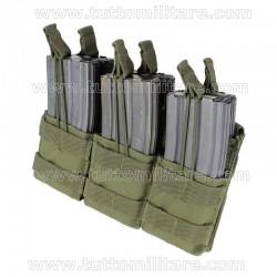 Porta Caricatori Rapido Triplo 6 posti M4 M16 Verde