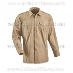 Camicia Militare Kaki Polsi Doppi
