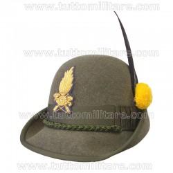 Cappello Alpino con Fregio Ricamato Guardia di Finanza
