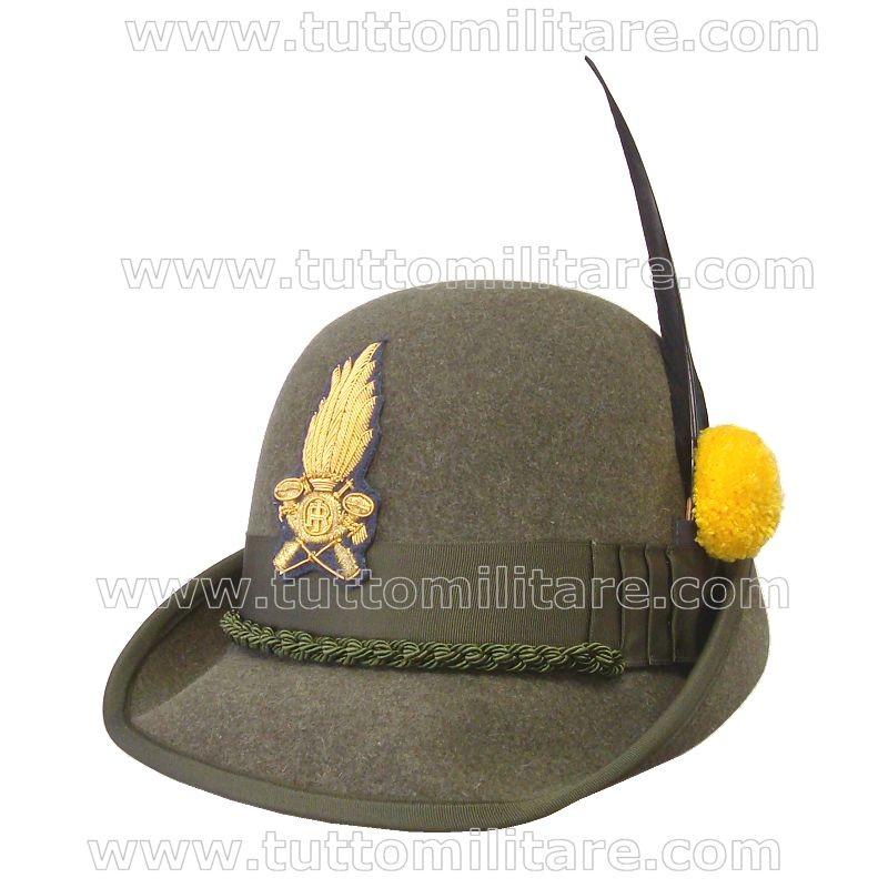 Cappello Alpino con Fregio Ricamato Guardia di Finanza 90e4a2b9fc54