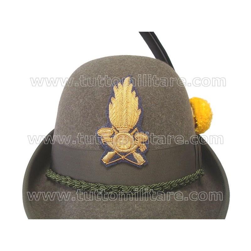 Cappello Alpino con Fregio Ricamato Guardia di Finanza eb00dfb97d6e