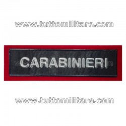Targhetta Plastica Polo Carabinieri