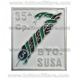 Distintivo 35^ Cp. Btg. Susa