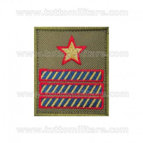 Grado Velcro Verde Luogotenente Aeronautica Militare