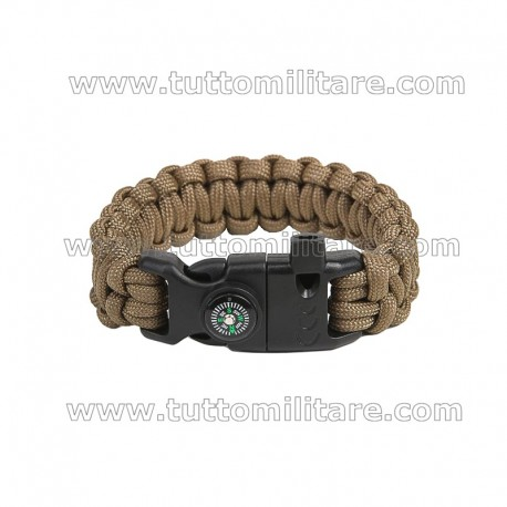 Braccialetto Paracord TAN Coyote Multitool