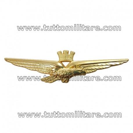 Brevetto Metallo Aquila Stilizzata Pilota Aeronautica Militare
