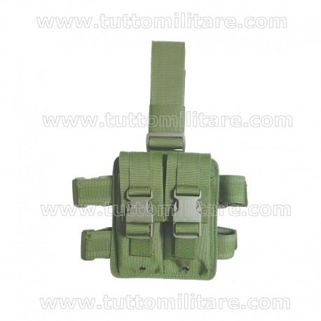 Kit Cosciale Doppio Uso con Doppio Porta Caricatore Verde