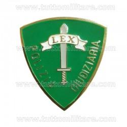 Distintivo Metallo Polizia Giudiziaria Verde Polizia di Stato