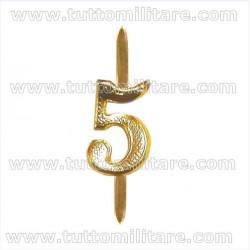 Numero 5 Ottone Dorato