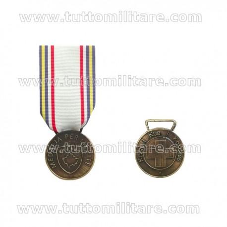 Medaglia Bronzo Kosovo Croce Rossa