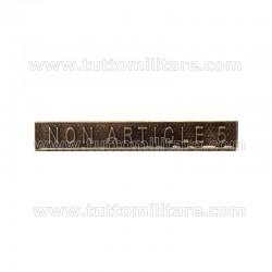 Fascetta Metallo NON ARTICLE 5