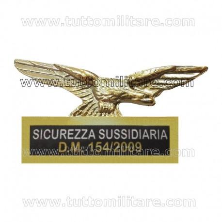Distintivo Metallo Sicurezza Sussidiaria D.M. 154/2009