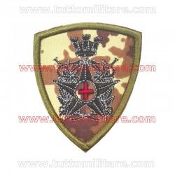 Scudetto Corpo Militare Croce Rossa Fondo Vegetato