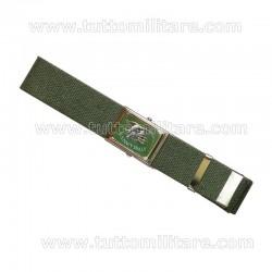 Cintura Militare Verde Navy Seals con Fibbia Vetrificata