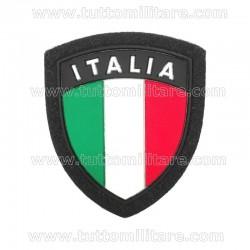 Scudetto Italia Plastica Bordo Blu con Velcro