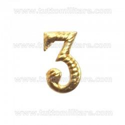 Numerale 3 per Cappello Alpino