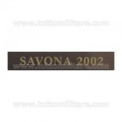 Fascetta LA SPEZIA GENOVA SAVONA 2002