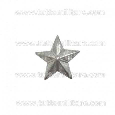 Stella Metallo Argentato Zigrinata 15 mm. Piccaglia