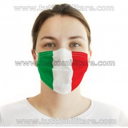 Mascherina Bandiera Italiana Tessuto TNT