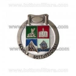 Distintivo Scuola Sottufficiali Argentato Guardia di Finanza