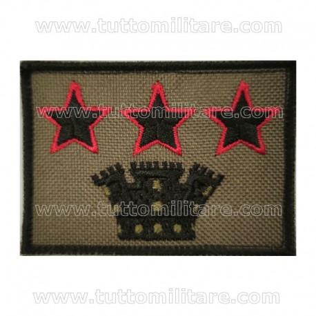 Grado Velcro Colonnello Comandante Esercito