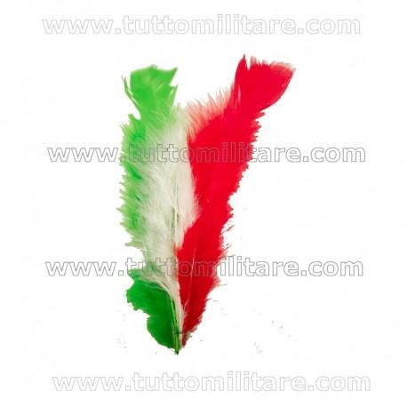 Piumetto Tricolore per Cappello Alpino