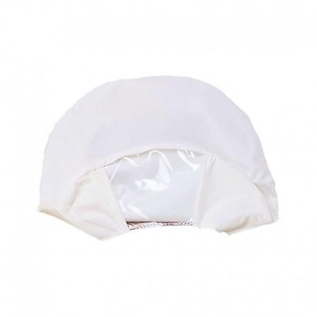 Copri Berretto Maschile Bianco Rifrangente con Finestra Trasparente