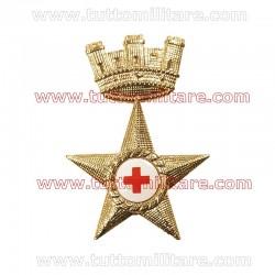 Fregio Metallo Berretto Sanità Esercito