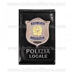 Portafogli con Placca Polizia Locale a Clip