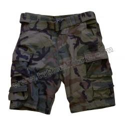 Pantaloni Cargo Short Woodland Camo